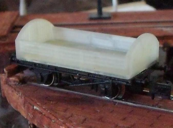 Fitted to an old Graham Farish chassis. Wooden solebar type would be better.
