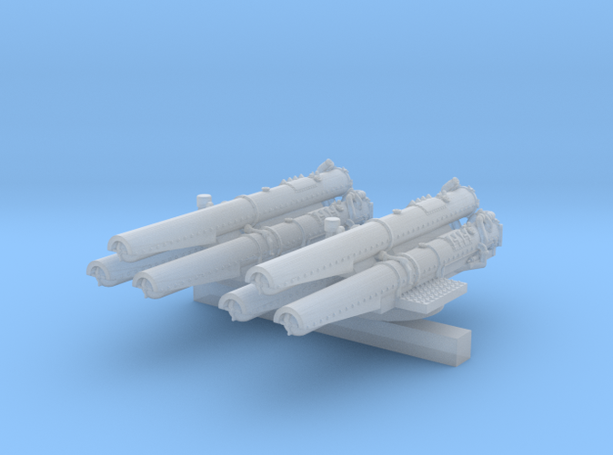 "1/600 V & W Class Destroyer Triple 21"" Tubes x2"
