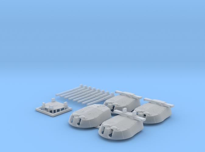 "1/700 HMS Vanguard MKI* 15"" Guns"