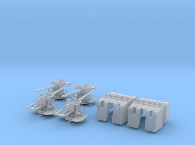 """1/144 4.7""""/45 (12cm) QF Mark IX CPXVII Guns x4"""