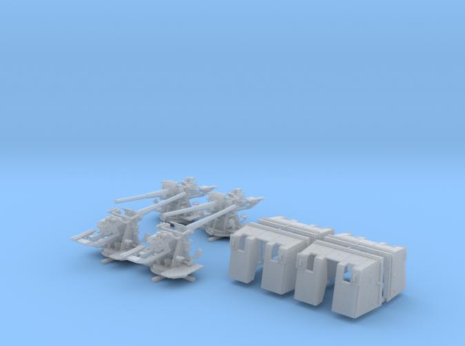 """1/128 4.7""""/45 (12cm) QF Mark IX CPXVII Guns x4"""