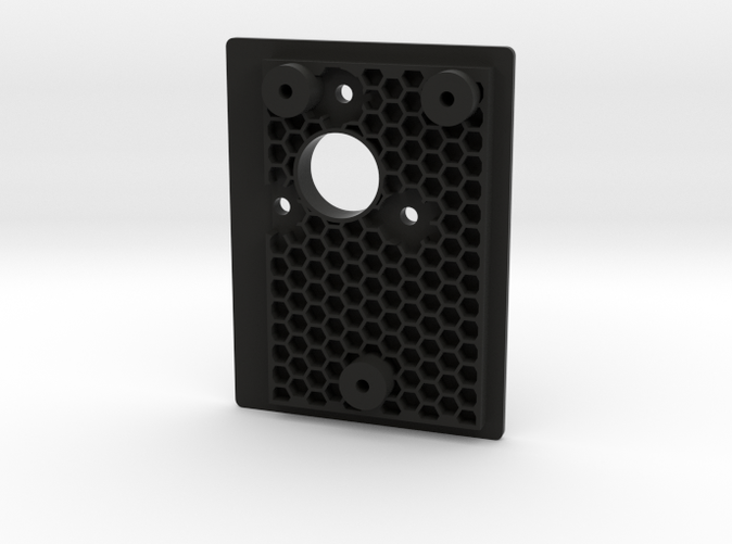 Looks awesome in black! Honeycomb structure below.