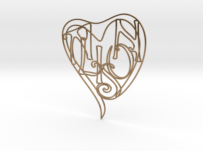 Alison - Personalised 2D Heart