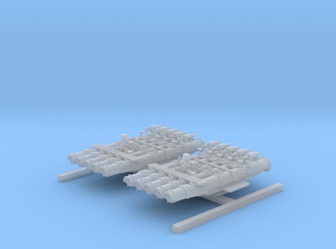 """1/350 Royal Navy 21"""" Pentad Torpedo Tubes"""