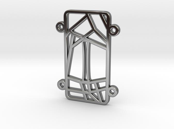 Personalised Inkscape Voronoi Pattern Bracelet (I)