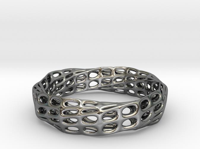 Mobius Band Voronoi Bracelet 65mm (003)