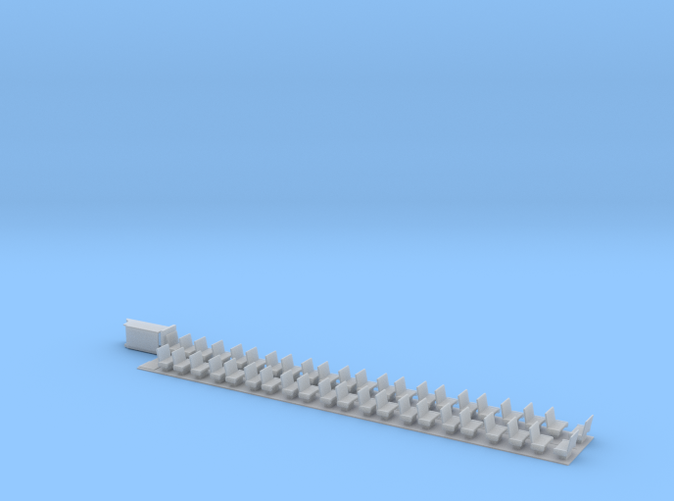 N Scale Seat Kit for Stillwell Commuter Coach