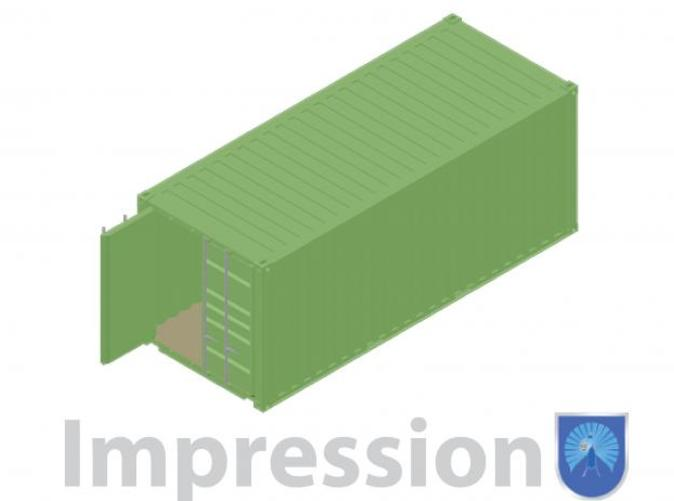 Impression of a 20ft shipping container type B