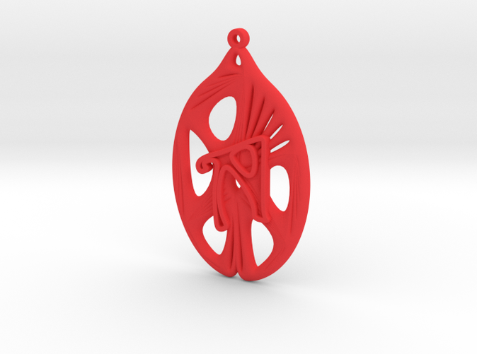 Personalised Voronoi Catenoid Curve Earring (001b)
