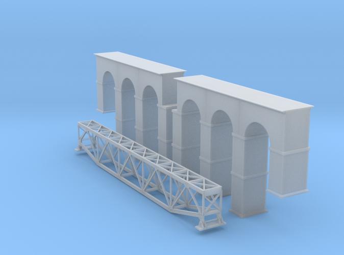 Arched Truss Bridge Z scale