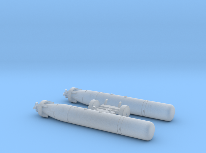 Mark 44 Torpedo with Wasp Pylons (1/72 Scale)