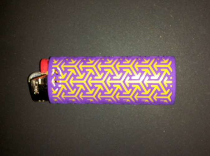 Arrow sleeve with yellow lighter