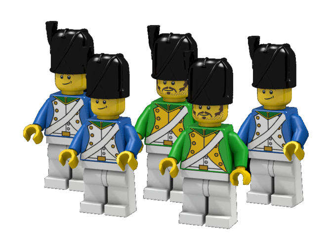 French Grenadiers and Dragoons  (Render: Example usage, Decals by Mosana and Woody64)