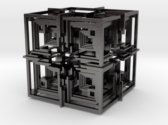 Cube 01 - Polished Nickel