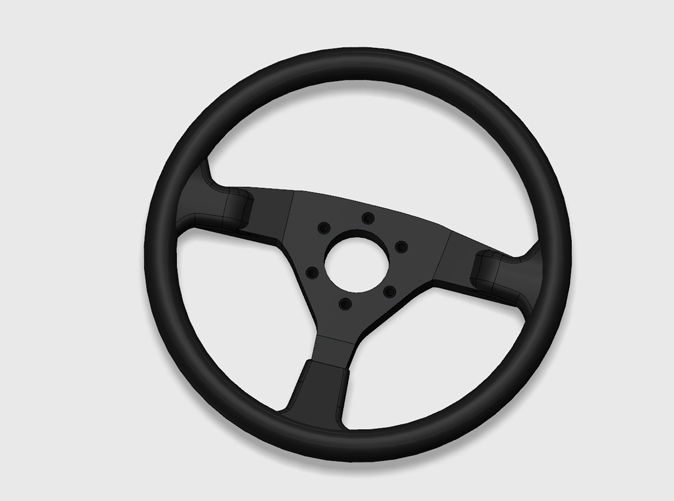 Keychain replica from the Veloce steering wheel, render.