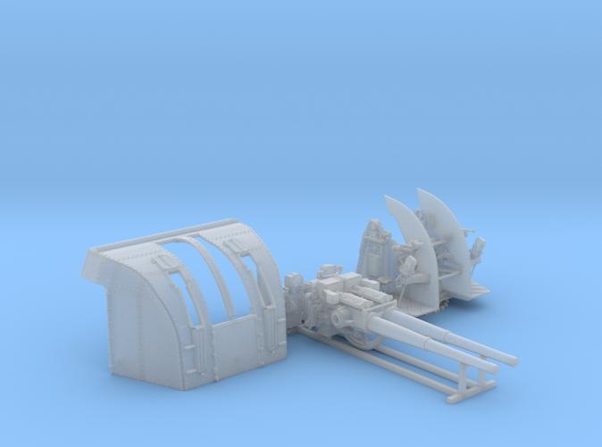 """1/72 RN 4""""/45 (10.2 cm) QF Mark XVI Gun x1"""