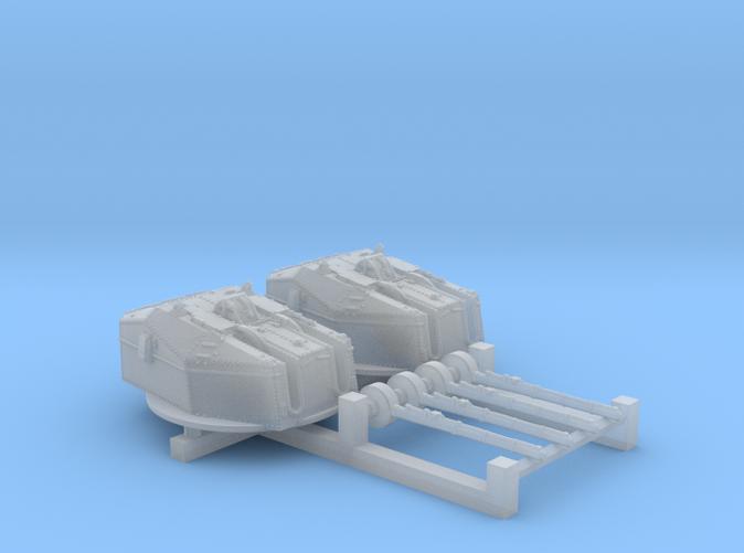 "1/700 HMS Tiger Class 6""/50(15.2cm) QF MKN5 Guns x2"