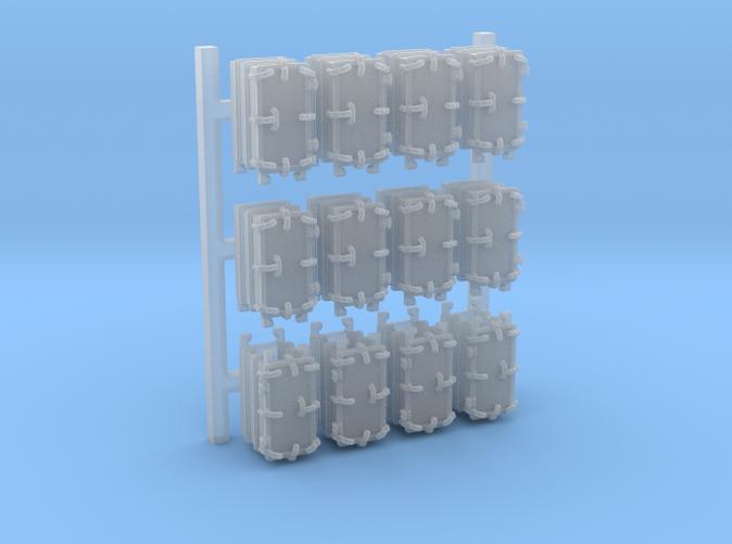 """1/192 Royal Navy 4.7"""" Ready Use Lockers (Med) x12"""