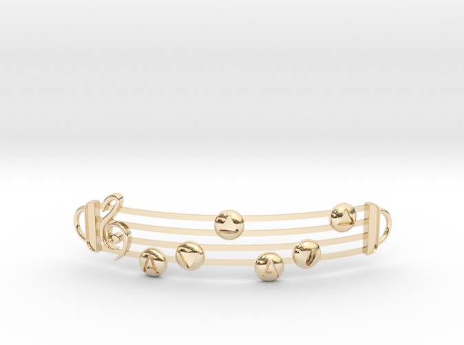 Song of Storms in 14k Gold Plated Brass
