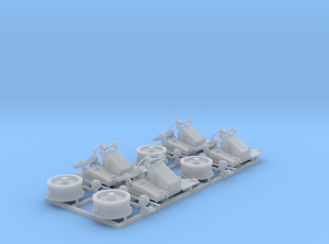 1/144 Twin 20mm Oerlikon MKV Mount 25º x4