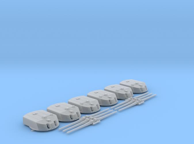 """1/350 IGN Helgoland Class 30.5cm (12"""") SK L/50 Guns x6"""