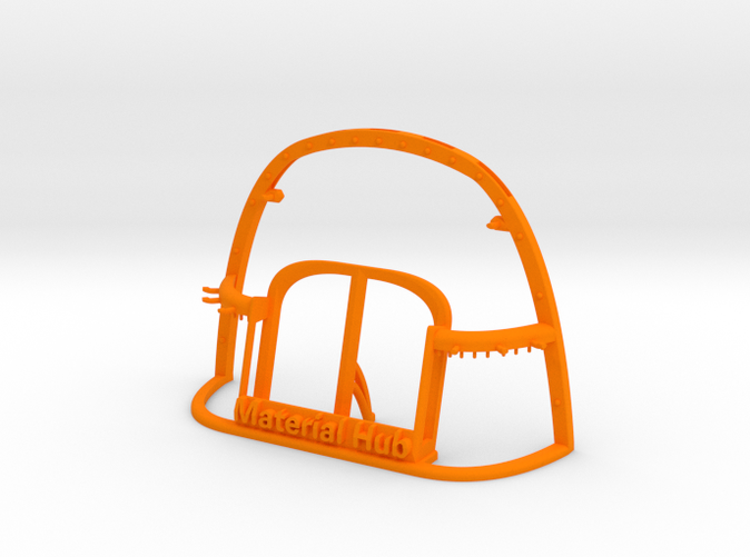 Wireframe Hub in Orange Strong and Flexible