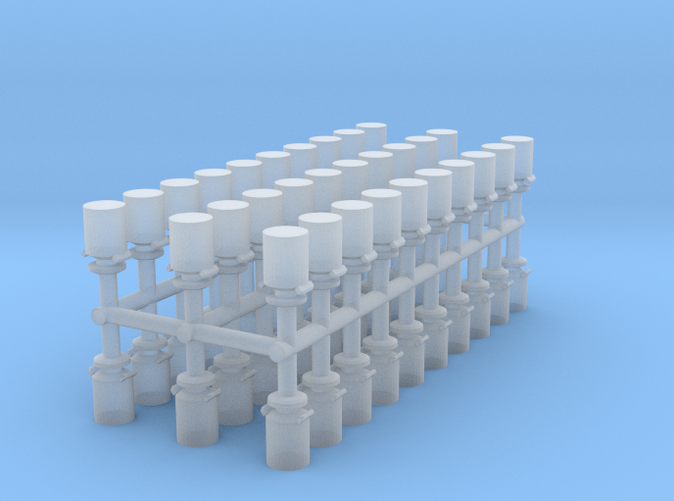 Milk Containers Z scale