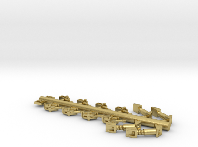 S Scale 2DF32 Brass Shock & Brake Shoes