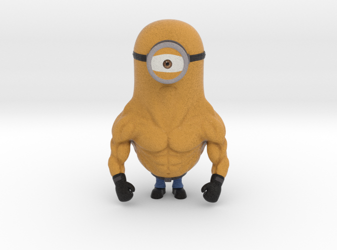 A minion called #STERO, loves to work out and addicted to steroids!