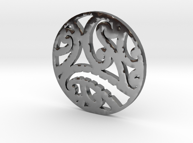 Maoristyle koru pendant