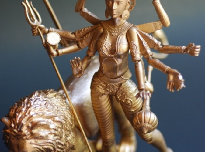 Durga with her lion.