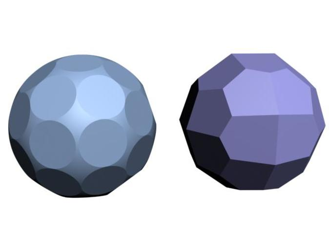 The polyhedral and the spherical D36