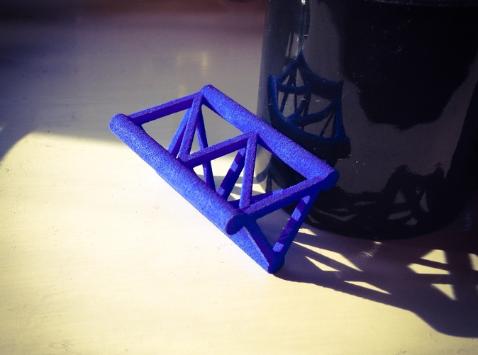 Printed in blue strong and flexible plastic