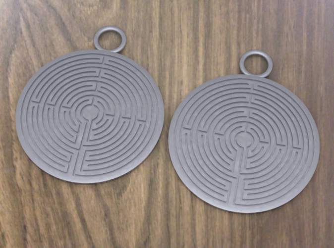 These earrings have never been printed. This is a computerized image from the 3D program I used to design the rings.