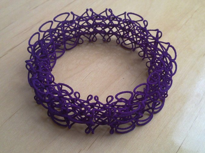 Bracelet printed in Purple Strong & Flexible