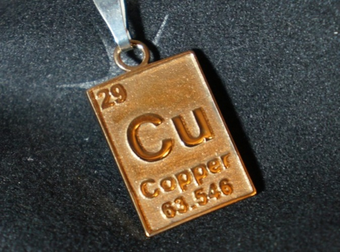 Copper Pendant In Polished Bronze
