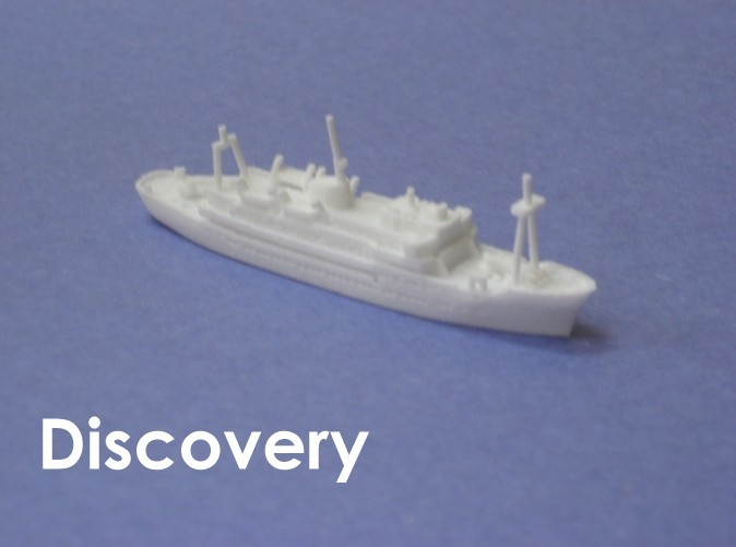 1:1200 scale model of the second RRS Discovery