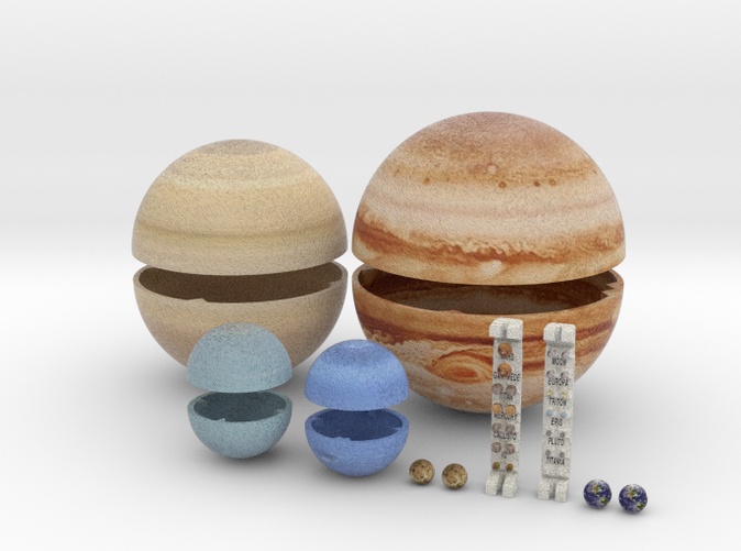 solar system true scale - photo #14