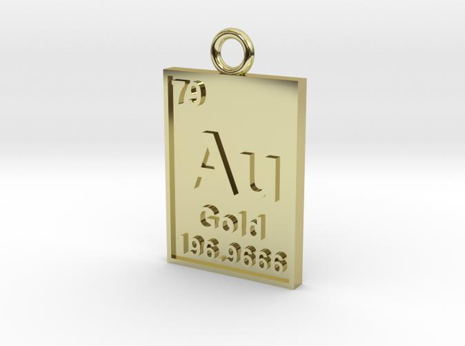 Gold Periodic Table Pendant Gr845c6zz By Cbertucio