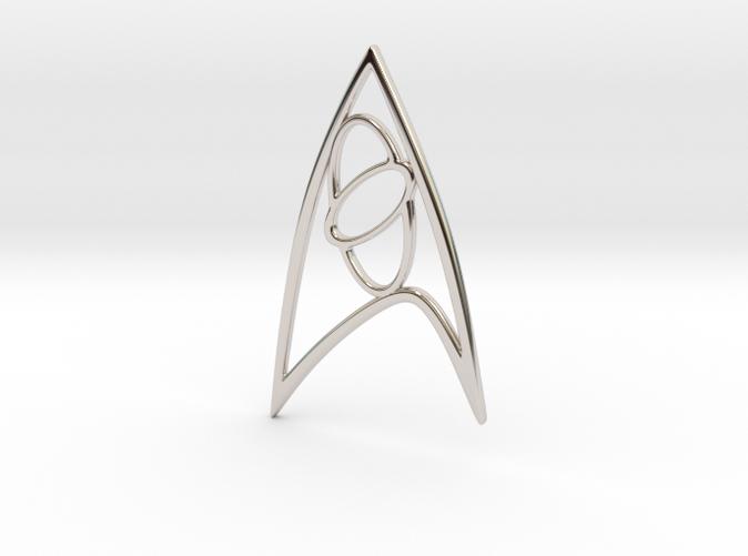 Starfleet Science Sign Rhodium