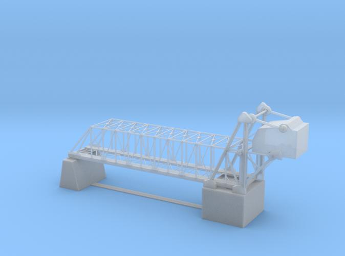 132 feet Railroad Lift bridge Z scale