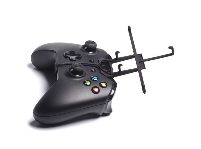 Without phone - A Samsung Galaxy S3 and a black Xbox One controller