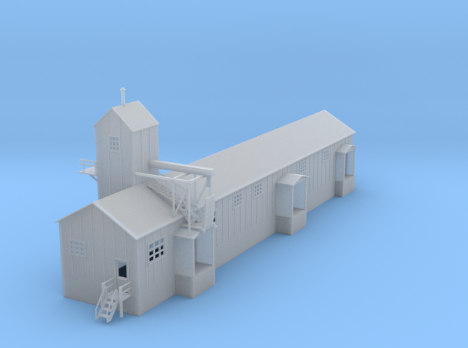 Clay Spur Pack House Z scale