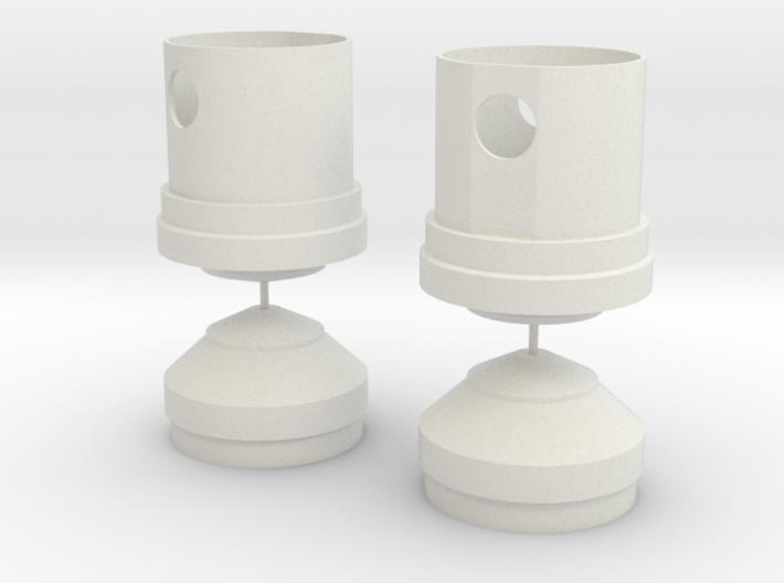 Jetpack Tank Caps 3d printed