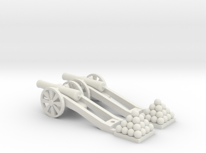 Cannon (Heavy) - Qty (2) HO 1:87 scale 3d printed
