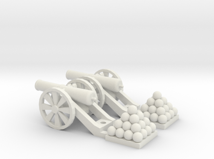 Cannon (Light) Qty - (2) HO 1:87 scale 3d printed