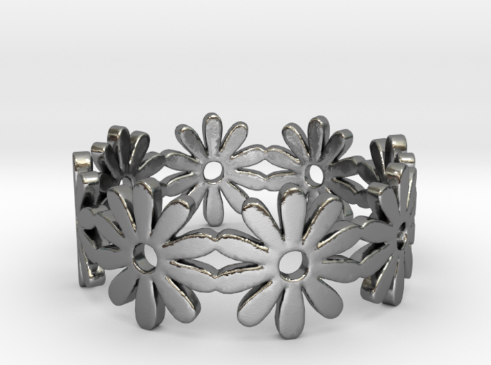 32 Daisy Ring V1 Ring Size 7.75 3d printed