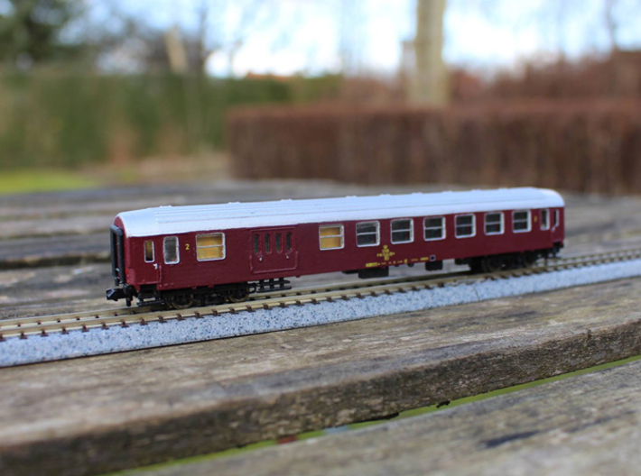DSB Class BD coach N scale 3d printed Priming and paint not included, bogies and couplings must be obtained from third part, read below!