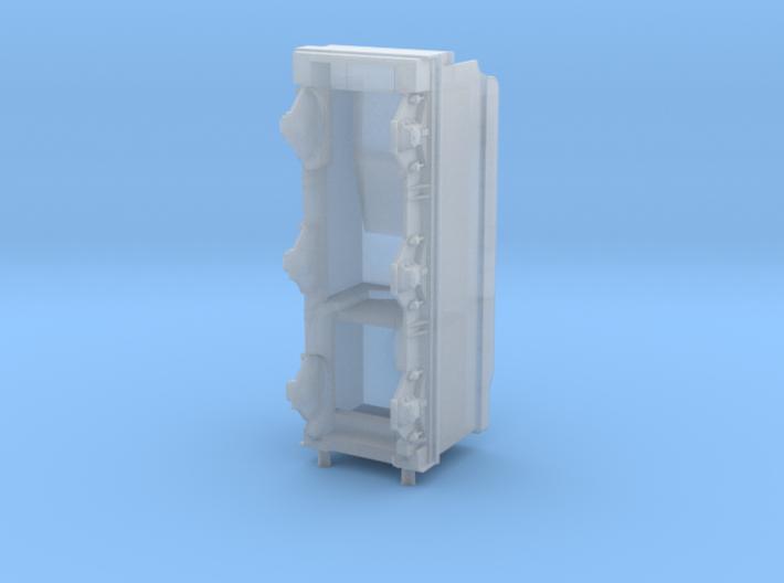 GWR Collett 4000 gal tender, 2mm FS 3d printed Render - front