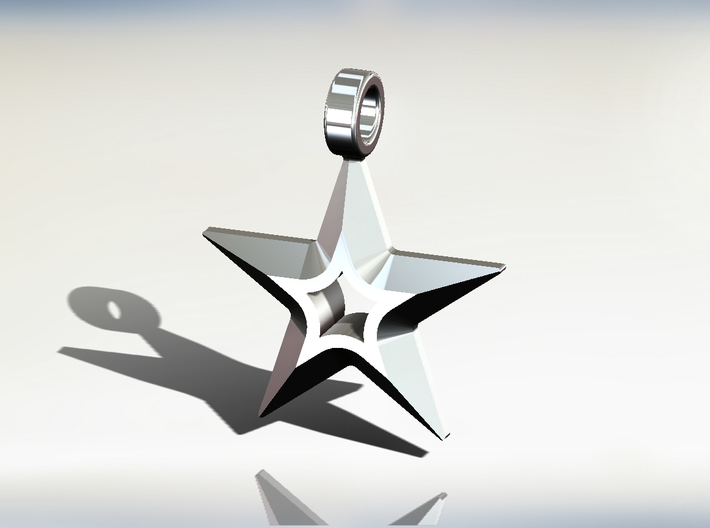star pendant 3d printed Add a caption...